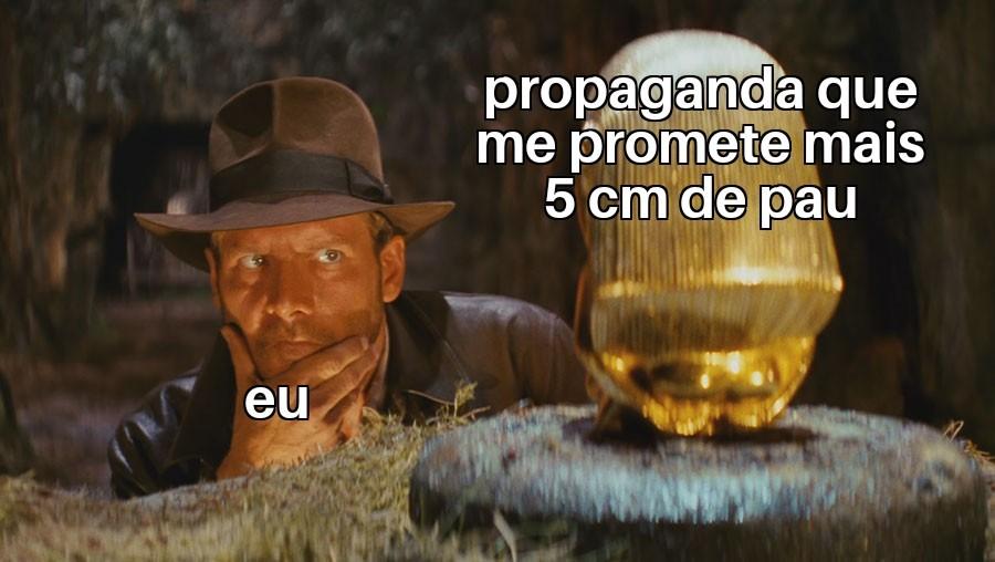 OU NÃO CLICA NESSAS PROPAGANDAS ELA DEIXA A LETRA GRANDE PRA SEMPRE - meme