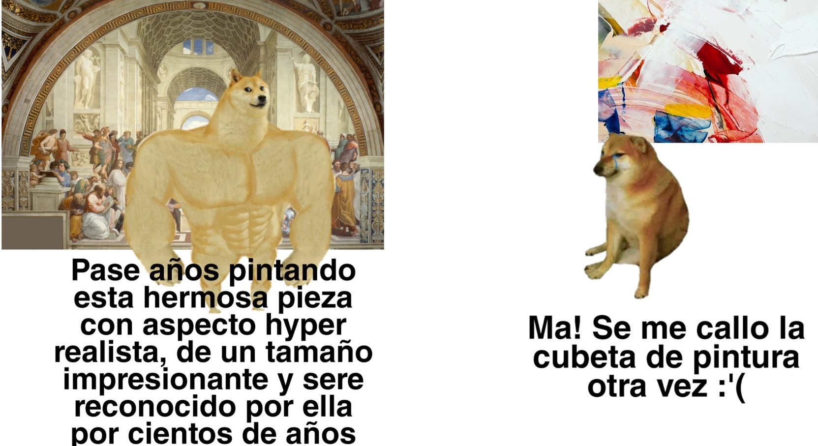 El nuevo arte apesta - meme