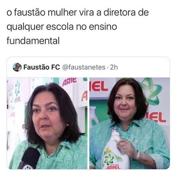 FAUSTÃO WOMAN - meme