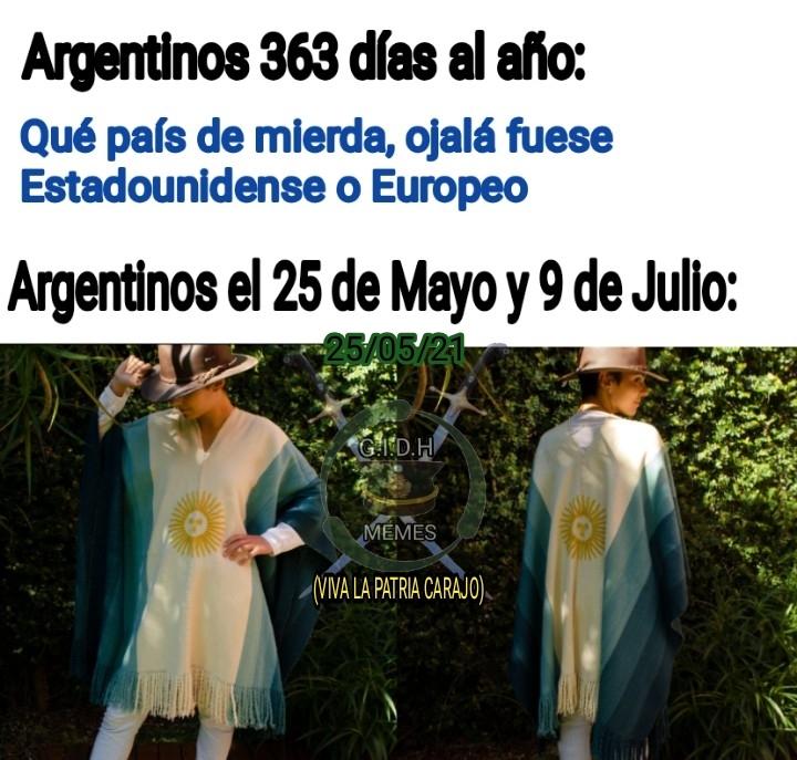 FELIZ 25 DE MAYO, VIVA LA PATRIA - meme