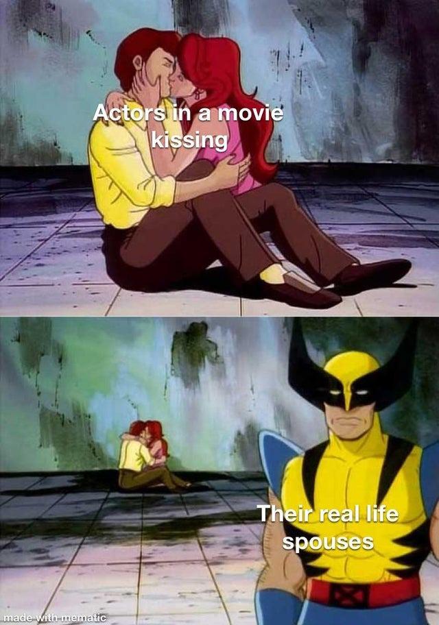 Movie kisses - meme