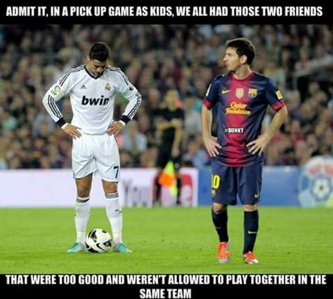 Messi is the better...what do you guyz think? - meme