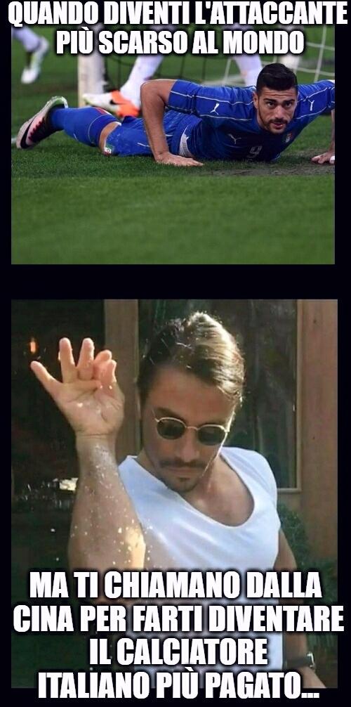 Graziano Pellè è il 4 giocatore più pagato al mondo, non lo puoi spiegare... - meme