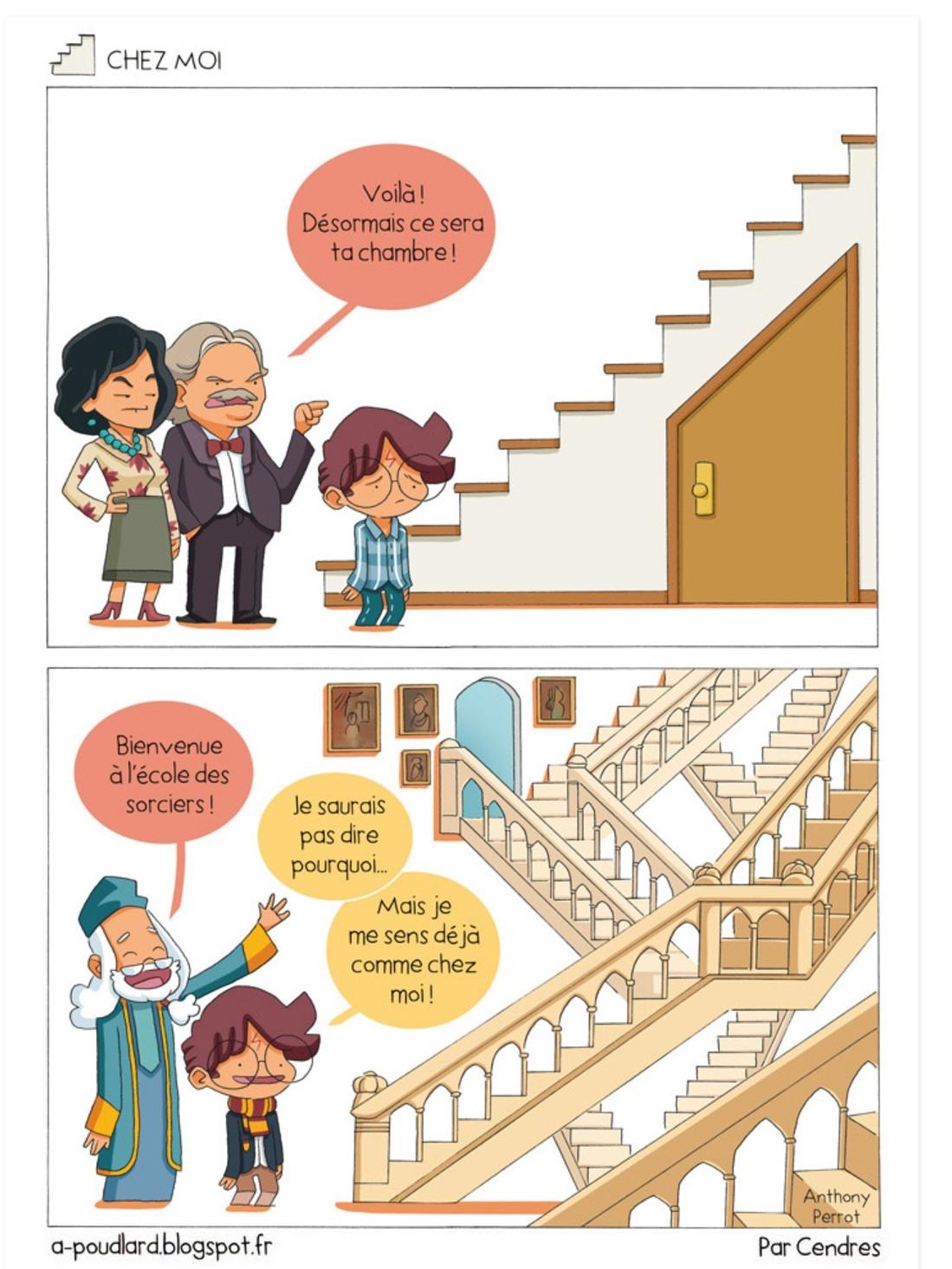 Harry, le clodo sous l'escalier - meme