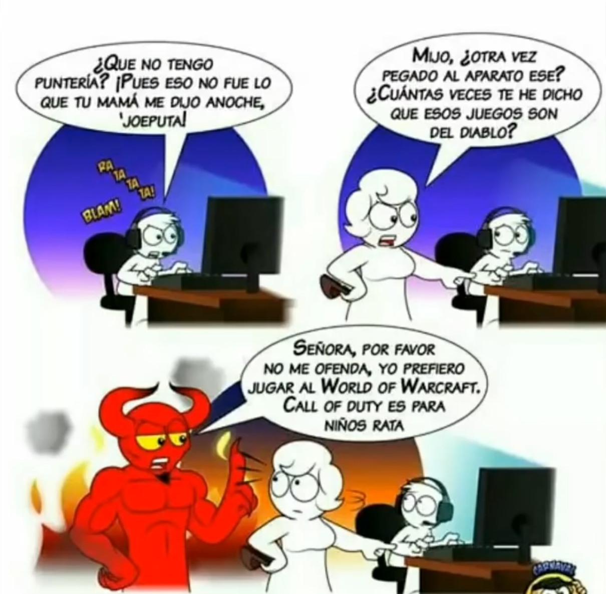 el demonio - meme