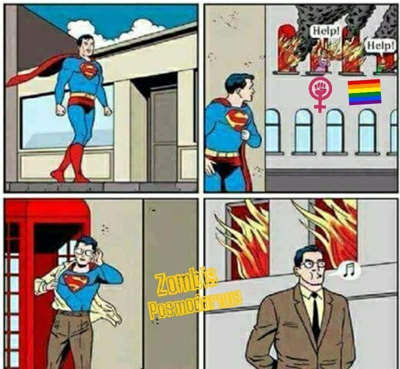 Superman opresor - meme