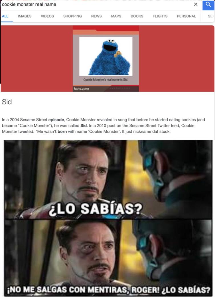 Sid......no me gusta - meme