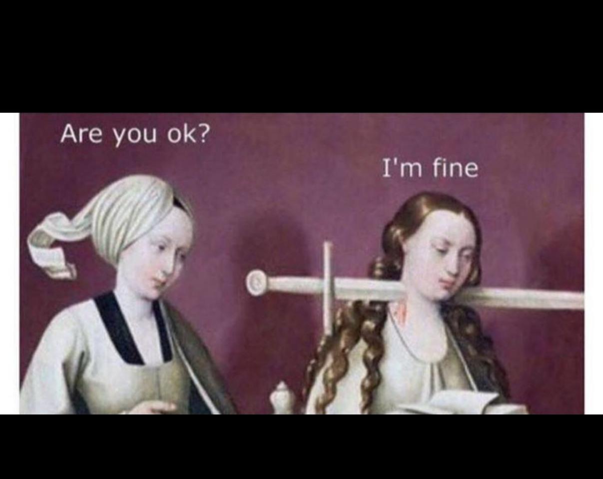 """""""Tout vas bien?""""  """"Oui je vais bien"""" - meme"""