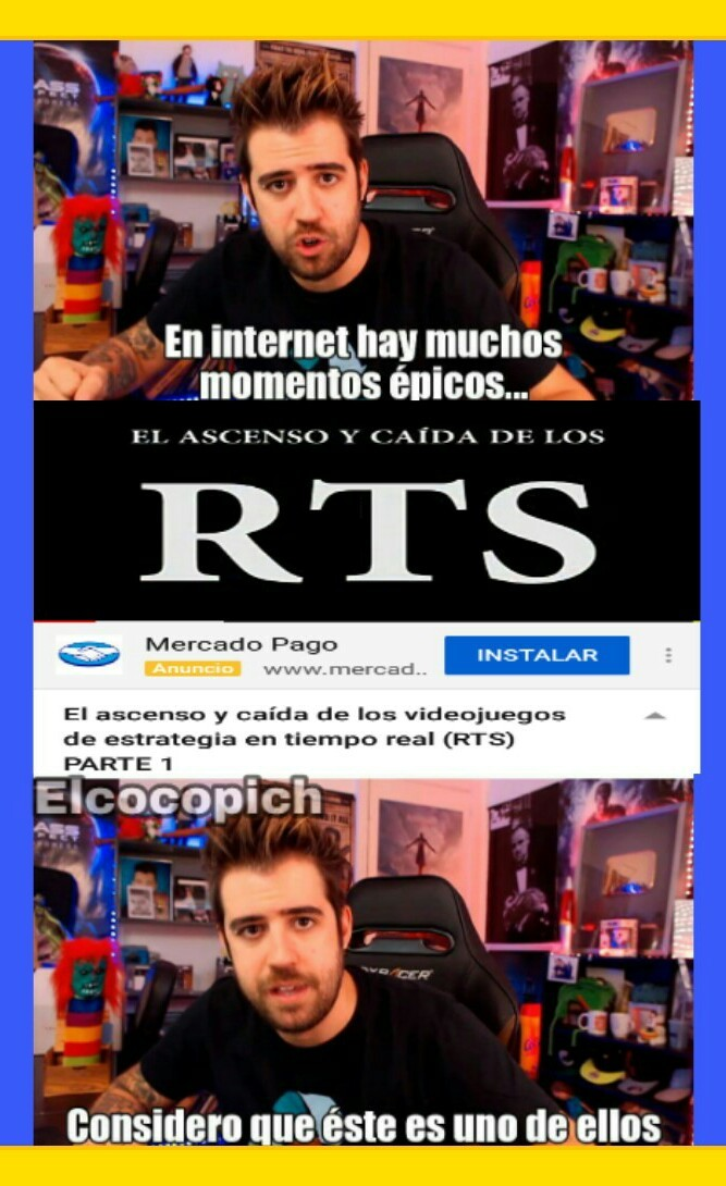 Yo jugué warcraft, ave of empires y algunos total war - meme