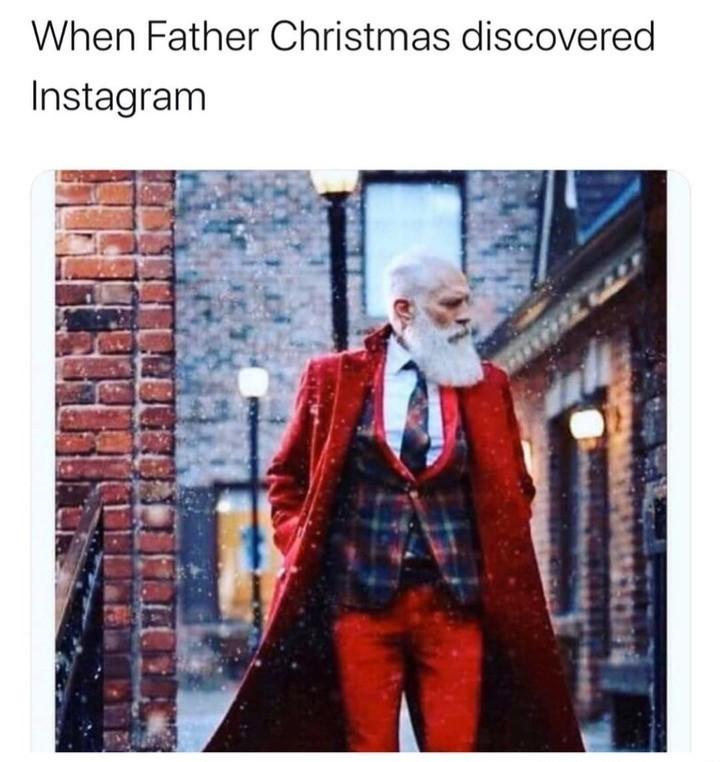 Instagram Santa - meme
