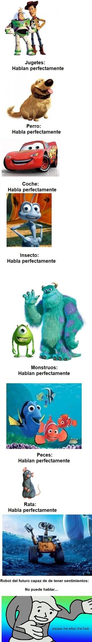 Pixar fuck the logics - meme