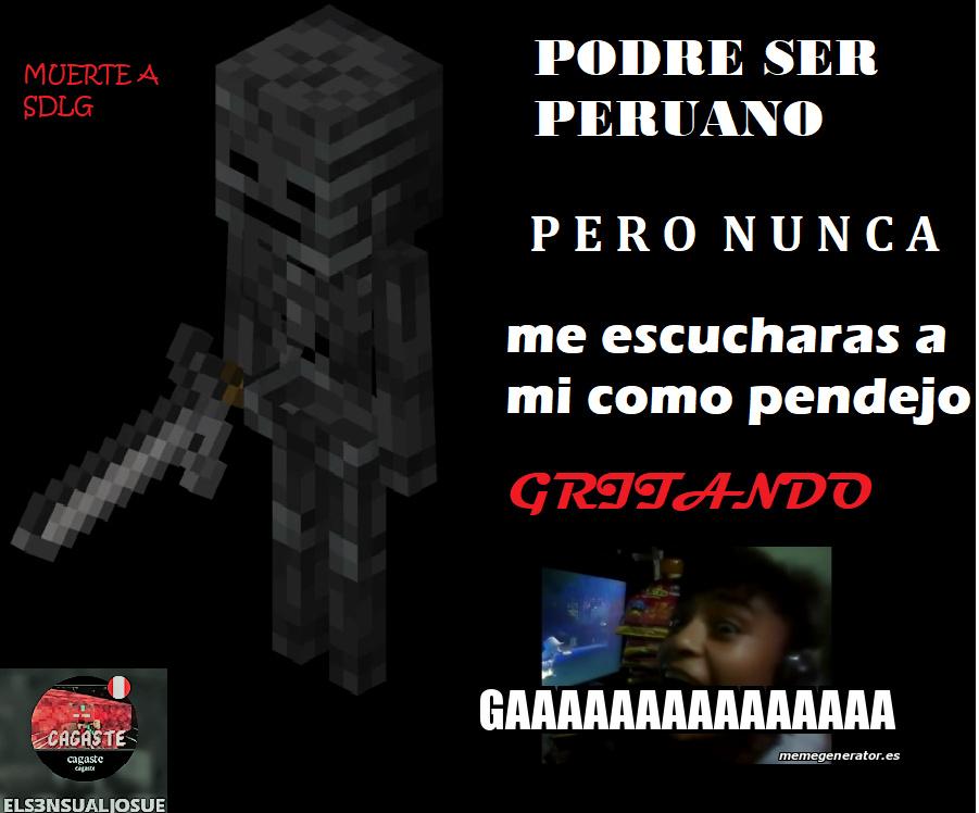 """pendejos se ven gritando""""gaaa"""" (peruanos inferiores xd, muerte a los furros) - meme"""