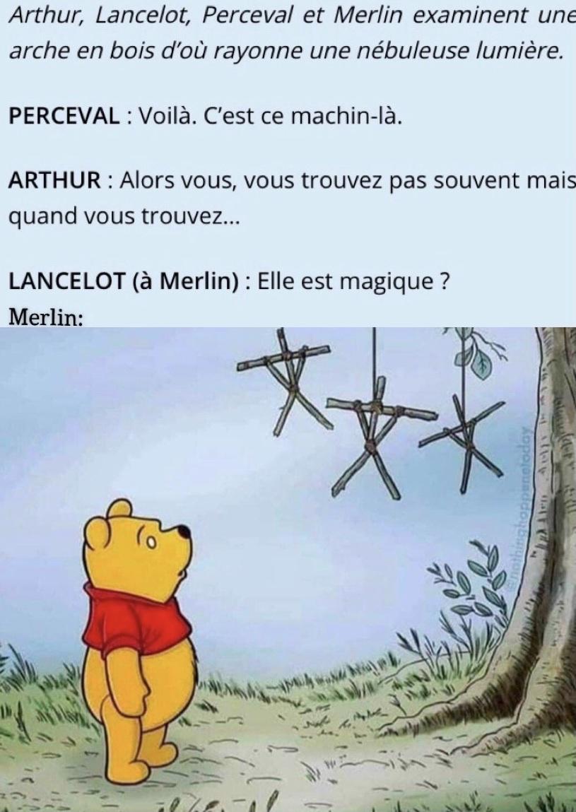 Merlin et l'arche de transport - meme