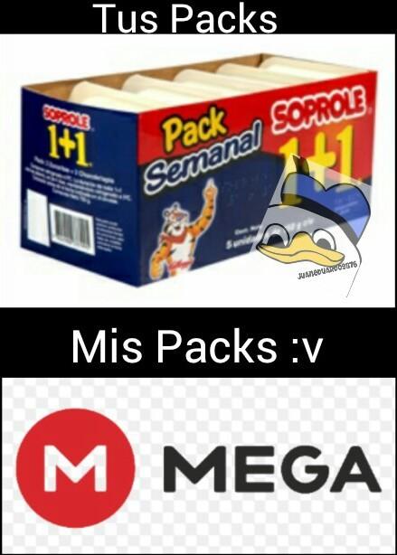 Mis Packs >:v - meme