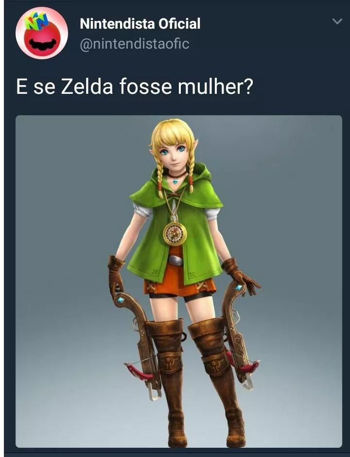princesa pediu o Link - meme