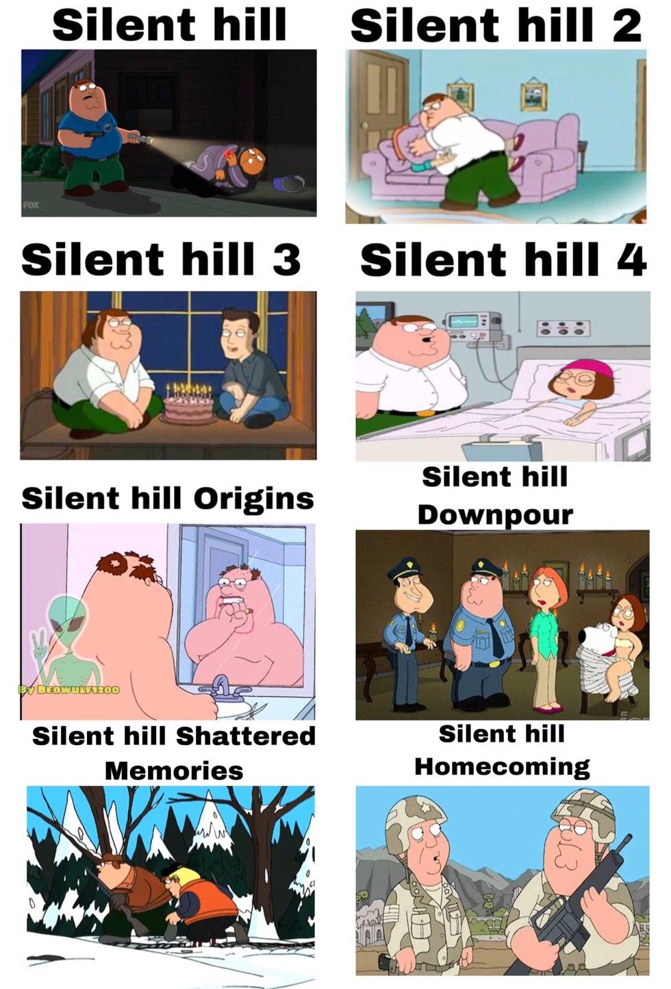 Peter en Silent Hill XD - meme