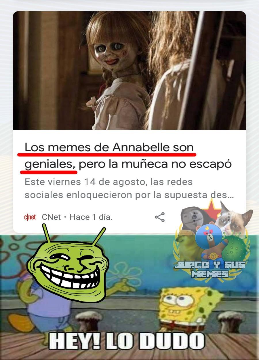 Anabelle, dame dame na - meme