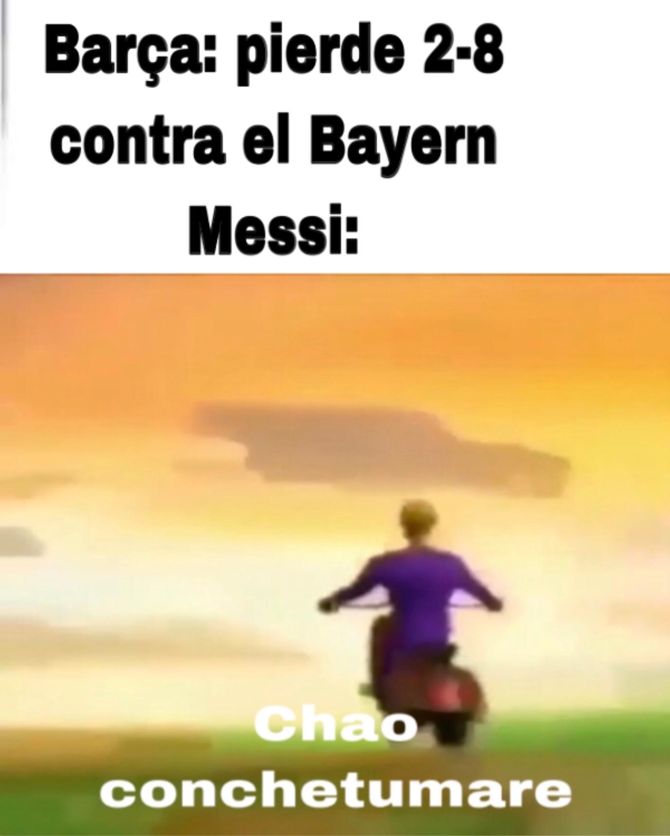 Messi se quiere ir - meme