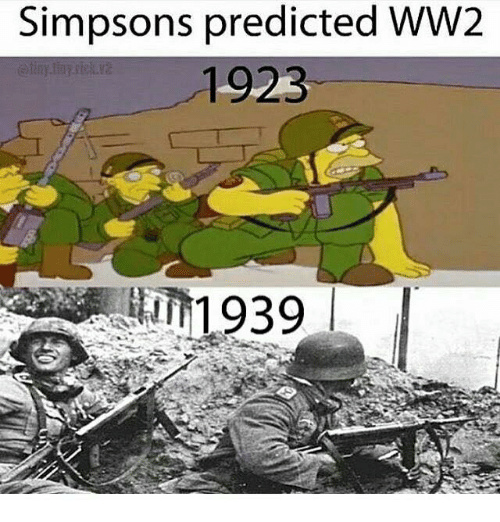 Simpsons did it first - meme