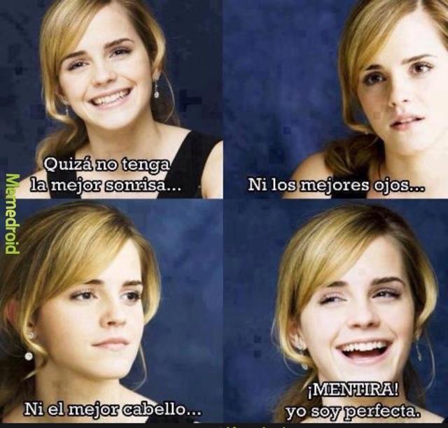 Amo a Emma Watson y tú? - meme