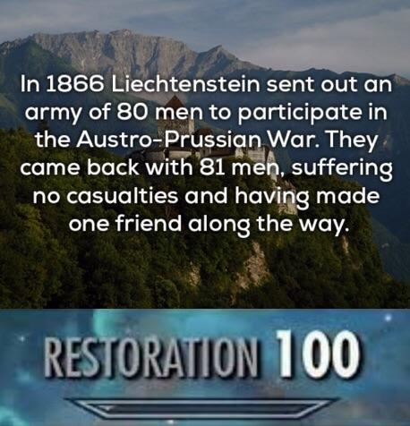 Liechestein army - meme