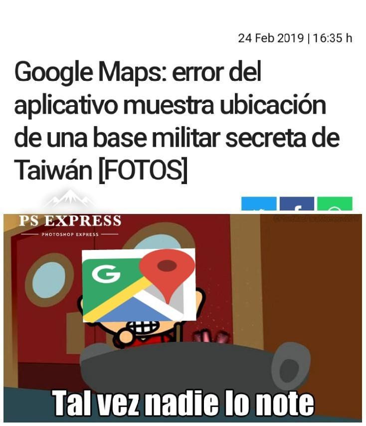 Cosas interesantes en Google Maps - meme