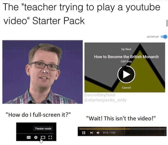 teacher yutube - meme