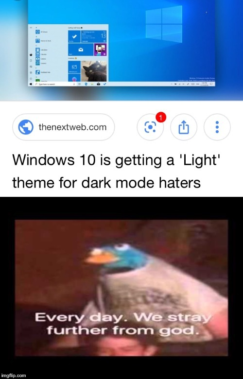 I'm blind now - meme