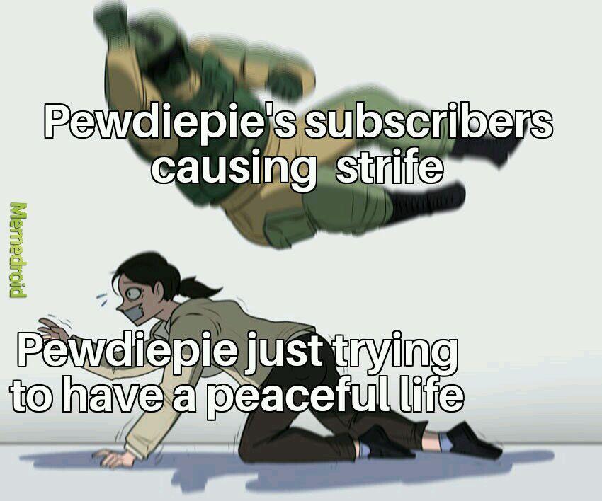 Poor Pewdiepie - meme