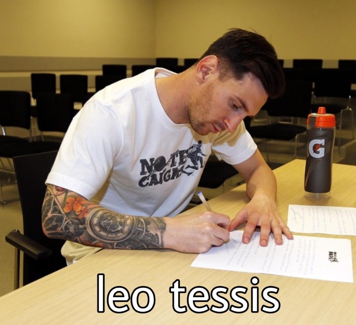 Leo tessis - meme