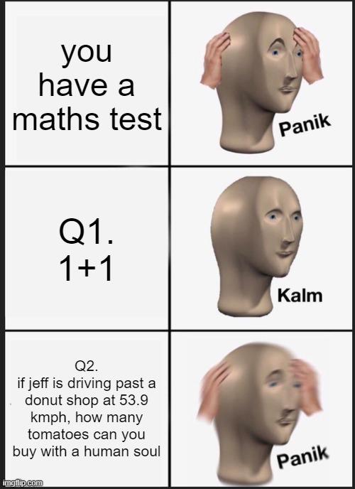 Math Tests - meme