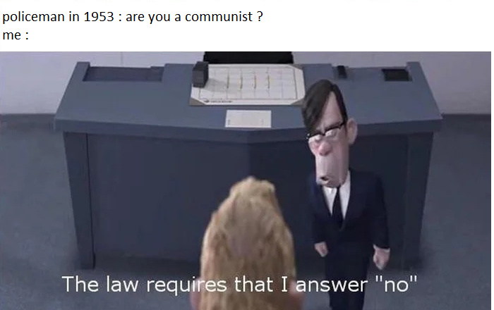 Are you a commie ? - meme