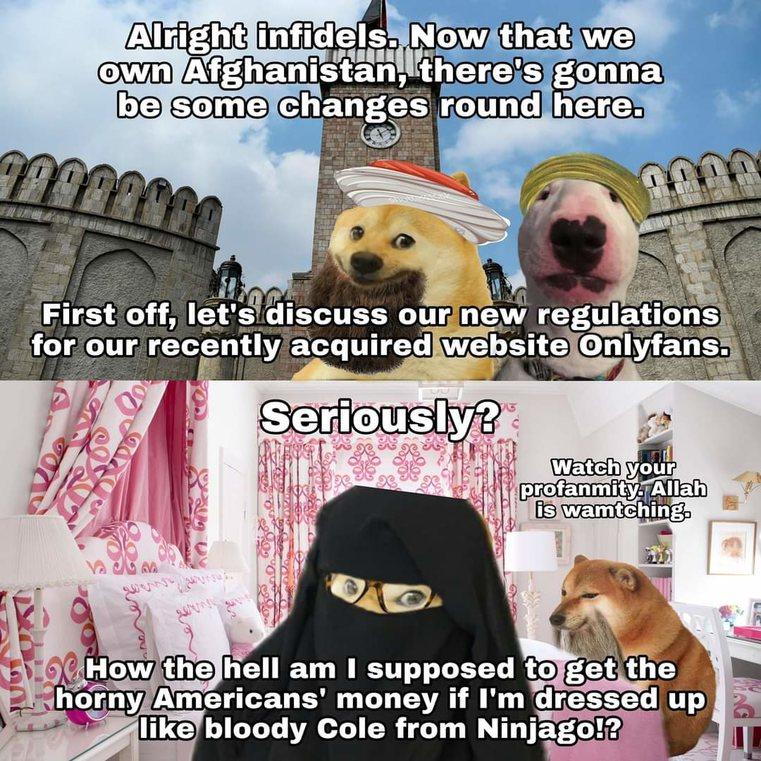 OnlyFans is now Taliban friendly site - meme
