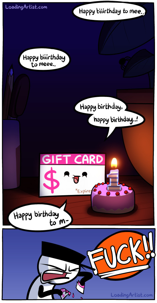 gift cards have an one year policy - meme