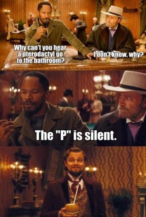 the pee is silent - meme