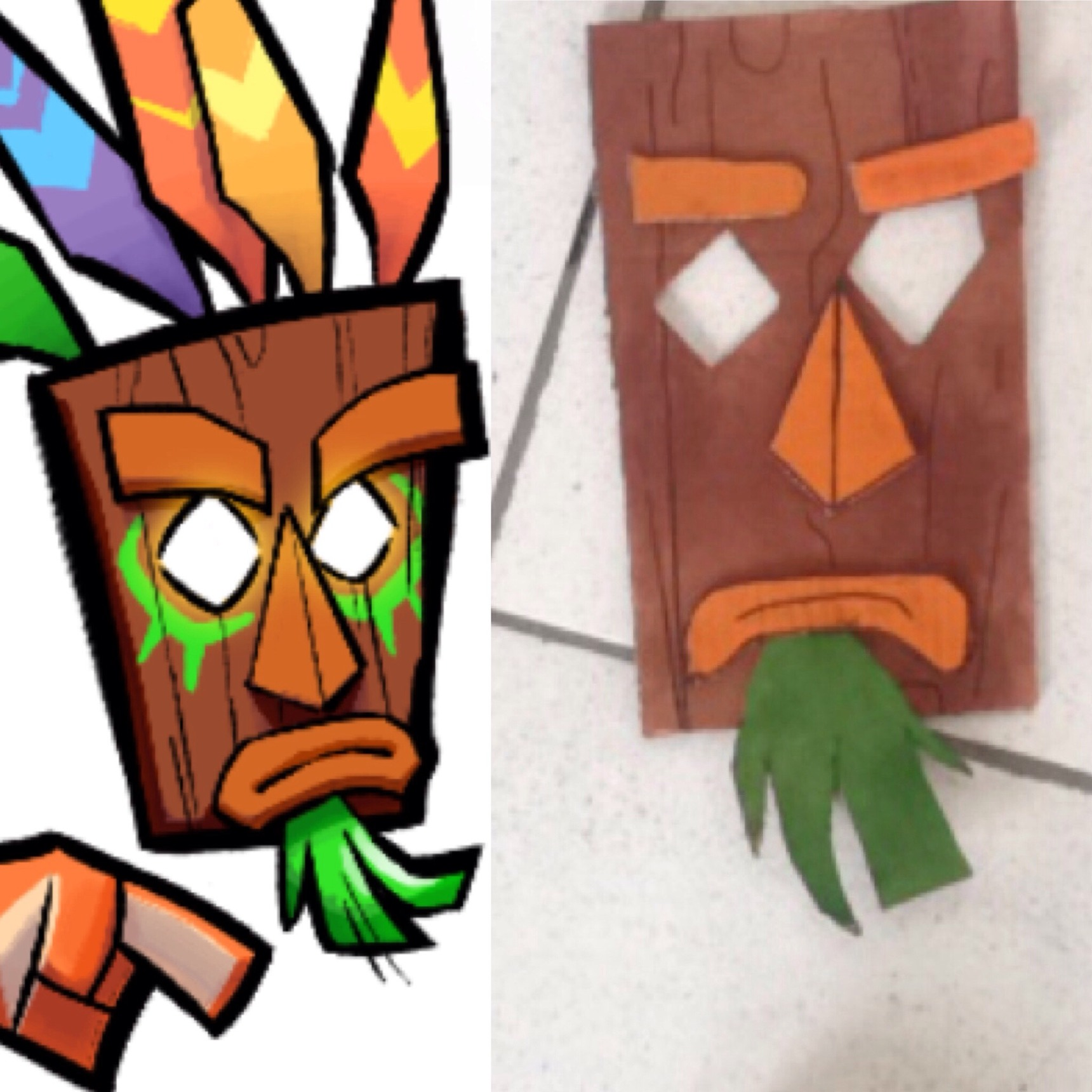 Crash Bandicoot na aula de artes - meme