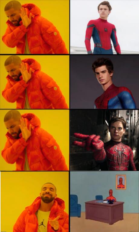 El mejor spider-man de todos - meme
