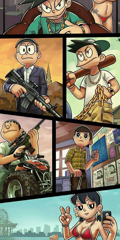 Nobita en gta - meme