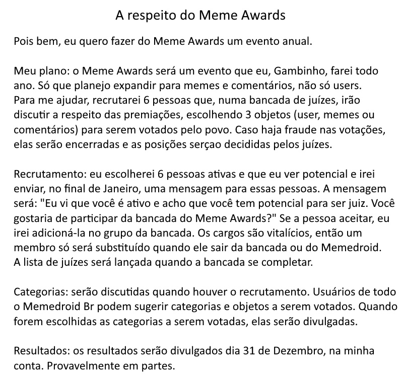 Sobre o Meme Awards