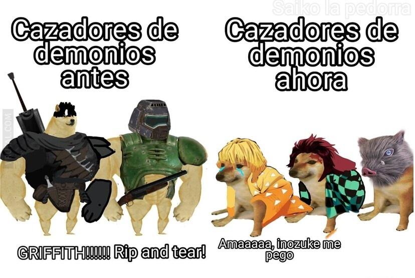 ellos so los verdaderos cazadores de demonios - meme