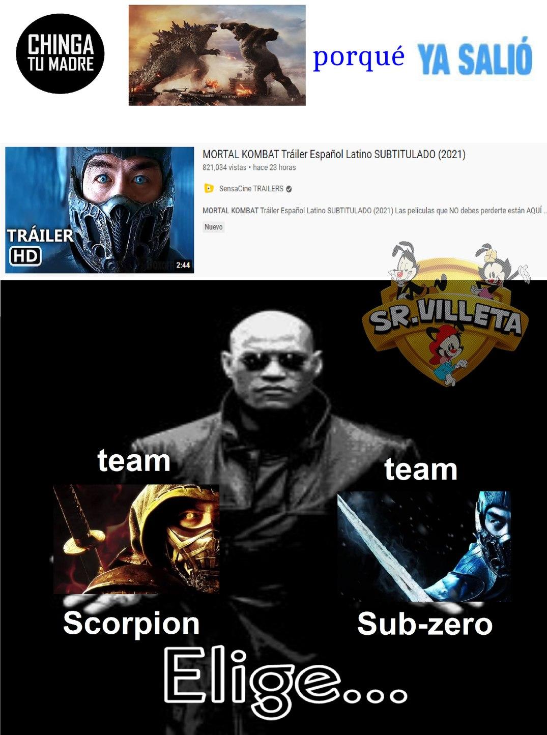 finalmente sabremos como termino la batalla de rap de scorpion vs sub-zero - meme
