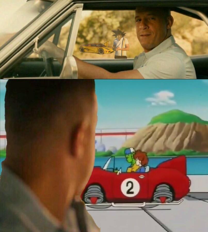 Mentre Goku e Piccolo (Junior) provano ad avere la Patente, Toretto li osserva 0.0 - meme