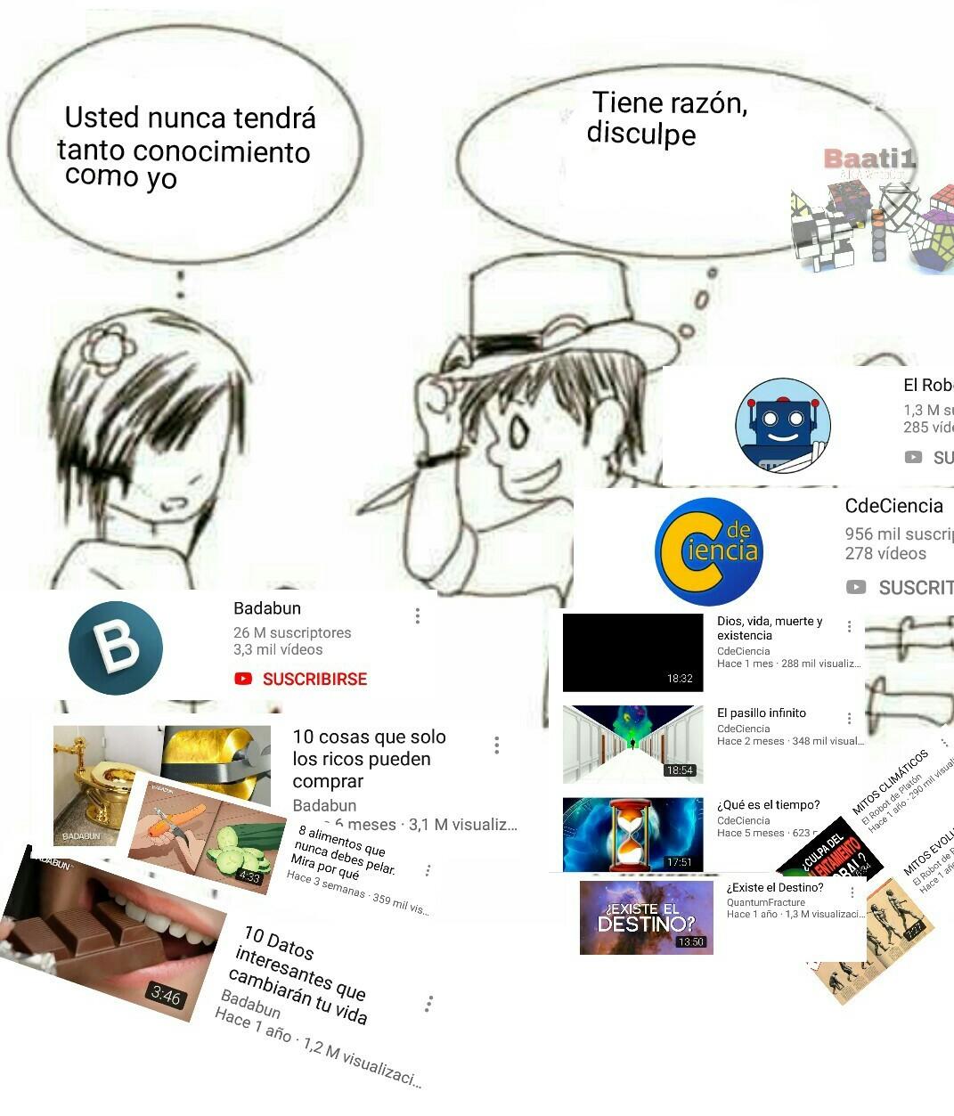 Contenido informativo de youtube - meme