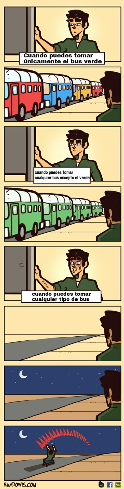 Tomando el bus - meme