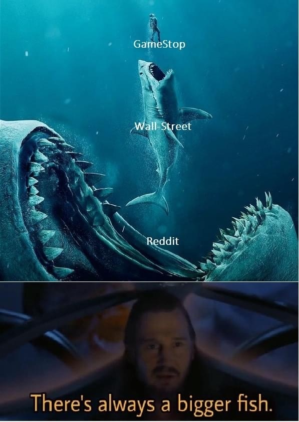 title is part of the bigger fish - meme