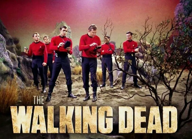 Red shirts always die - meme
