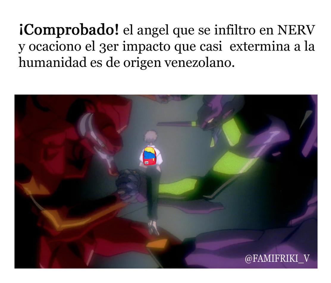 Kaworu Nagisa era venezolano - meme