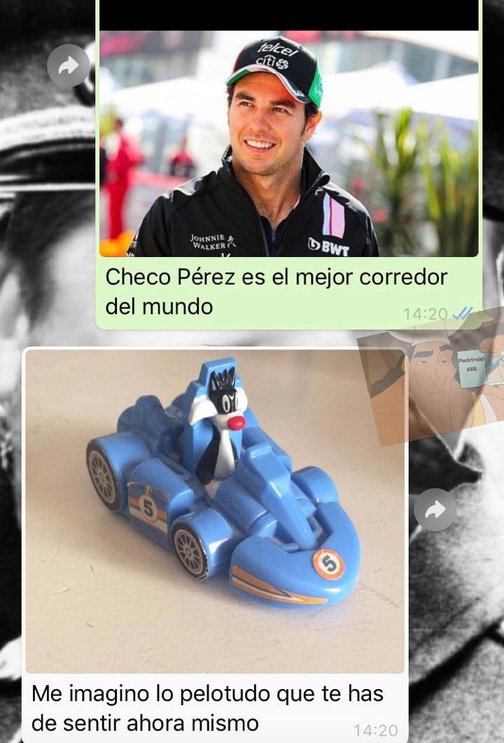 Checo Pérez es gilipollas - meme