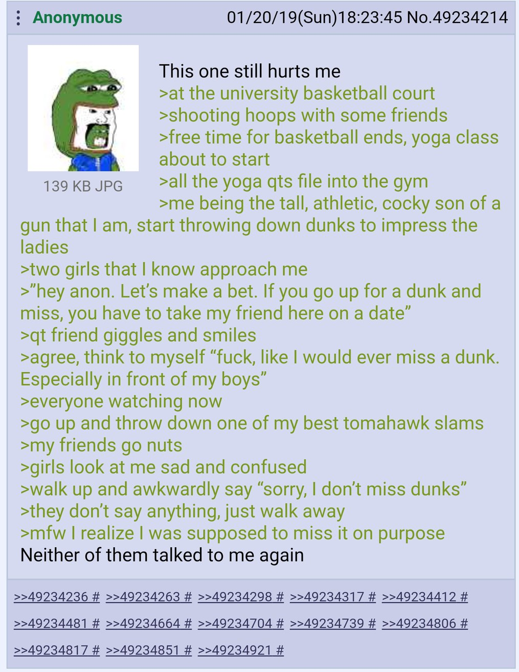 Anon dunks on T H O T S - meme