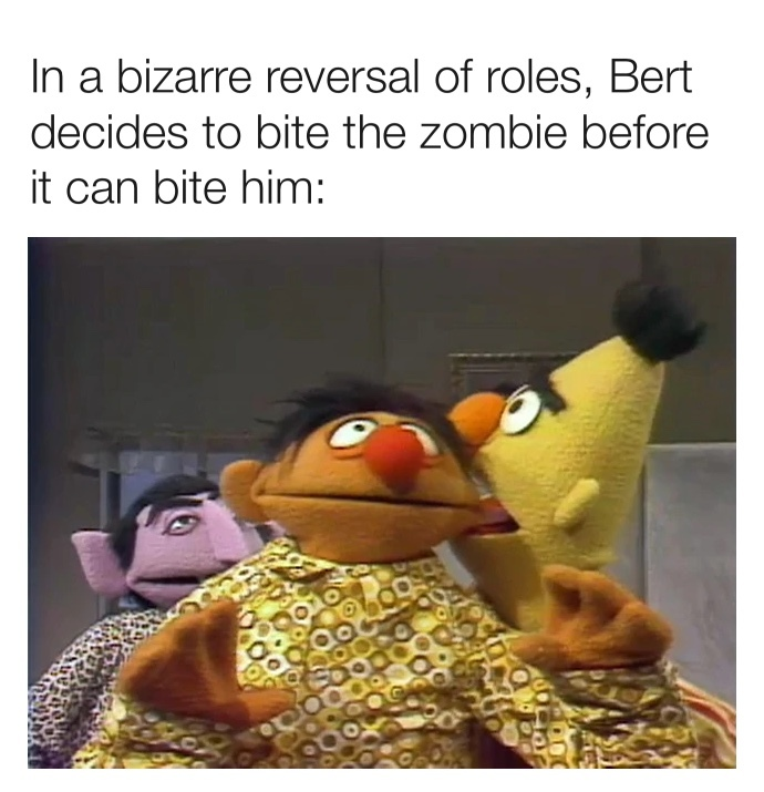 not the most edgy Bert and Ernie meme